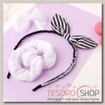 Набор для волос Солоха (ободок, 3 резинки) полоски - бижутерия