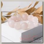Браслет шар №20 Кварц розовый - бижутерия
