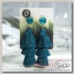 Серьги Кисти ванесса, цвет морской, L кисти 5.5 см - бижутерия