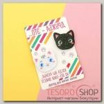 """Парные значки на открытке """"Котята"""" - бижутерия"""