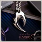 Кулон мужской Стальной крюк маори, цвет серебро, 50 см - бижутерия