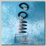 Набор для волос Амалия (набор 14 шт, 5 см, 6 см) сердечко - бижутерия