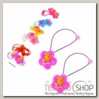 Резинки для волос Тюльпан (набор 12 шт.), цветок - бижутерия