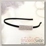 Ободок для волос Кристалл 0,5 см, прямой - бижутерия