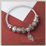 Браслет с жемчугом Марджери, подвеска МИКС, цвет серый в серебре - бижутерия