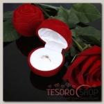 Футляр под кольцо Роза крупная, 5,5x5,5, цвет красный - бижутерия