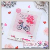 Браслет Dream с любовью для тебя, цвет ярко-розовый - бижутерия