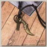 Кулон мужской Резон автомат, цвет чернёное золото с медью на корич шнурке, 80 см - бижутерия