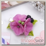 Зажим для волос ручной работы Розовые цветы - бижутерия
