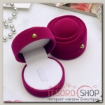 Футляр под кольцо Зефир 5,7x5,7x4см, цвет розовый - бижутерия