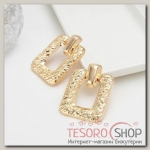 Серьги металл Эстетика, цвет розовое золото - бижутерия