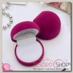 Футляр под кольцо Кнопка 5,3x5x3,3см, цвет розовый - бижутерия