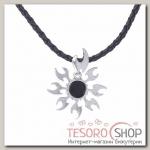 Кулон мужской Солнце огненное, цвет черный в серебре - бижутерия