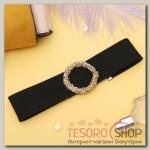 Чокер Шанталь кольцо, цвет чёрно-золотой - бижутерия